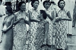 evolution qipao cheongsam dress Qipao wearers at Happy Valley racecourse 1950s Hong Kong