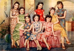 cheongsam dress group animation 1930s