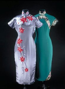 evolution qipao cheongsam dress - Hong Kong 1946s-1956s source: Pinterest.com