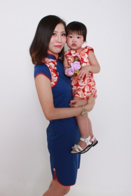 cheongsam blue dress women